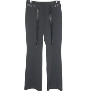 NWT Cache Black Belt Wide Leg Dress Slacks Pants